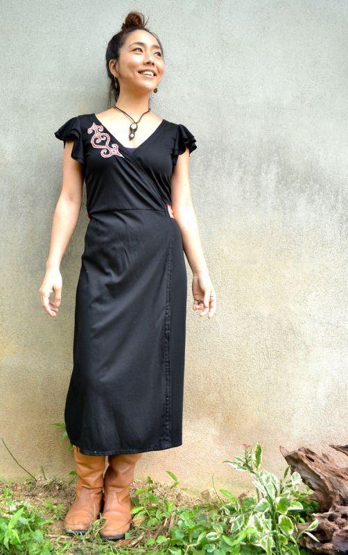 画像1: *Blk Bラスト1!Sale 20% OFF!! La medina morocco&TrishuL カシュクール +oLieアイヌ刺繍 (1)