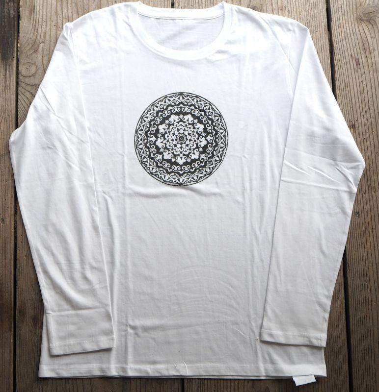 画像1: メンズ シルクスクリーン 長袖/七部袖 Tシャツ  9deisgn Tinge Works (1)