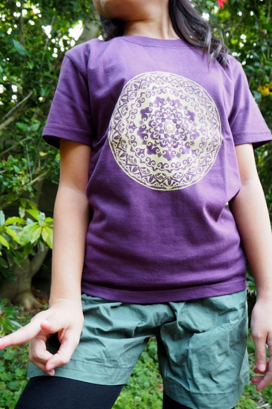 画像1: Sale 20%OFF!! kids Tee 曼荼羅 5design  Tinge Works (1)